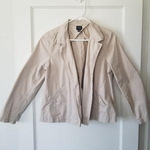 Eileen Fisher Petite Medium Tan No Button Blazer